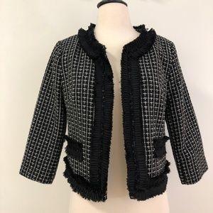 Forever21 Black & White Tweed Jacket size Medium